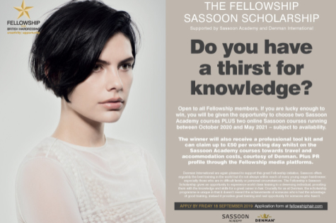 Sassoon Scholarship 2020 open for applications! 1